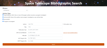 Bibliographic Search page