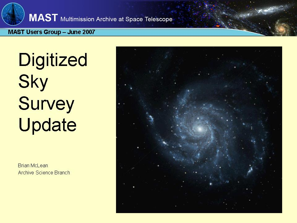 slide 1 of mug2007_dss_update presentation